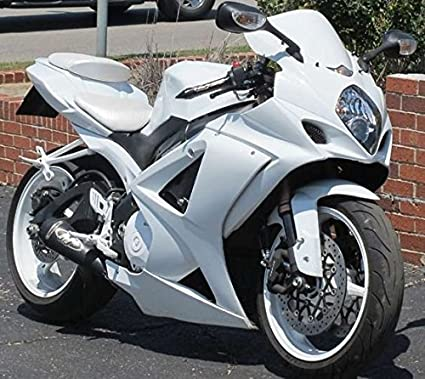 Amazon com: Moto Onfire ABS Injection All White Plastic