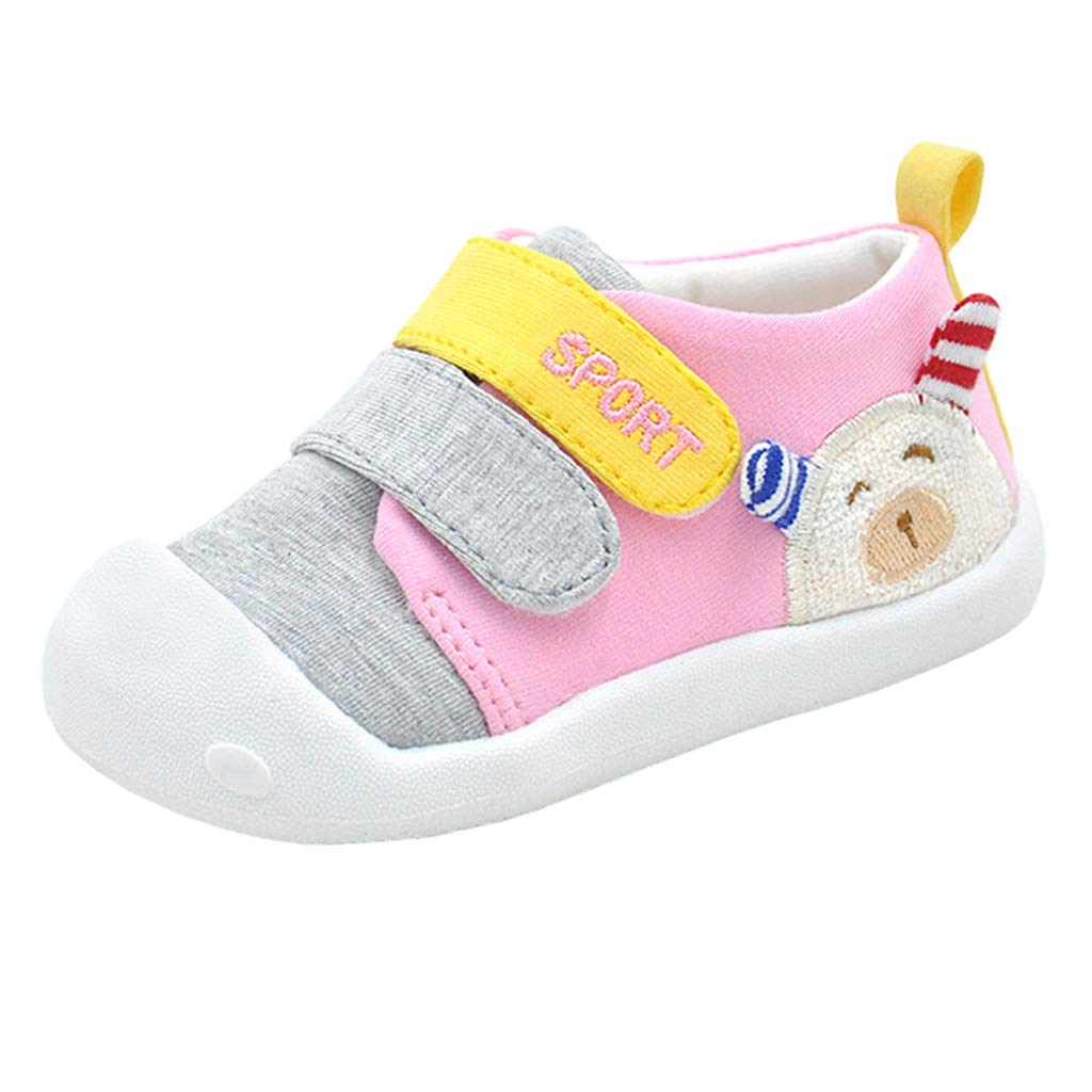 Annnowl Toddler Baby Sneakers Rubber Sole Cartoon Shoes