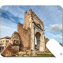 Luxlady Gaming Mousepad 9.25in X 7.25in IMAGE: 25983641 Arch of Augustus in Rimini Italy ancient romanesque gate of the city historical italian landmark the most ancient roman arch that still stands