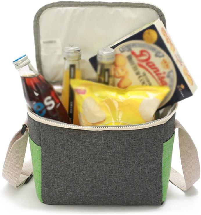 5L Sac à Lunch isolé Tissu givré à Isolation Thermique Multifonction Portable Sac à Lunch pour Adultes étudiants, au Pique-Nique du Bureau de l'école,Bstyle Cstyle