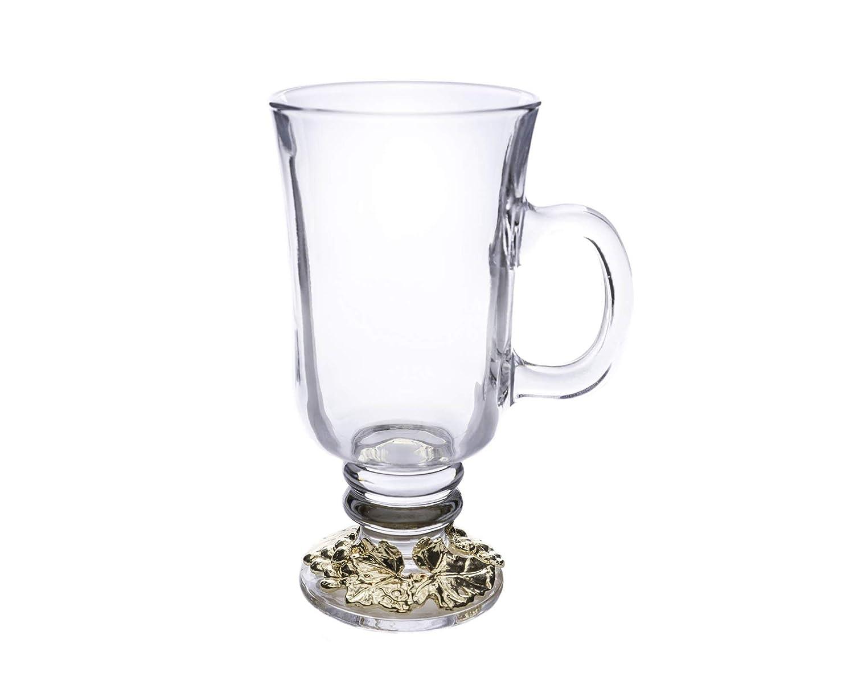 Arthur Court Designs Grape Gold plated Accent Glass Tea//Coffee Wine Glass Mugs 6 tall 12 ounces