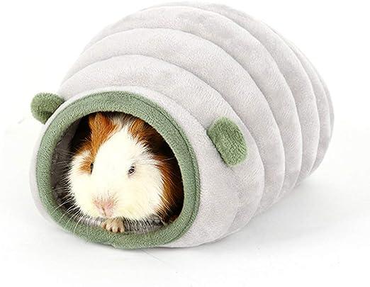 HanryDong - Cama cálida de invierno para hámster, diseño de animales pequeños, algodón, se puede lavar a