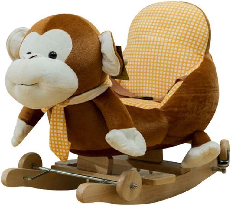 De los niños del caballo de oscilación Mono del bebé del caballo mecedora Caballo relleno de niños de la felpa interactivo Permanente vehículo infantil Caballo Juego de imaginación Caballo vehículo in