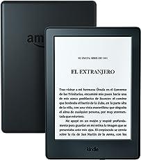 Kindle, pantalla E-ink sin reflejos, batería que dura semanas, color Negro, Wi-Fi, 2016, 8ª generación