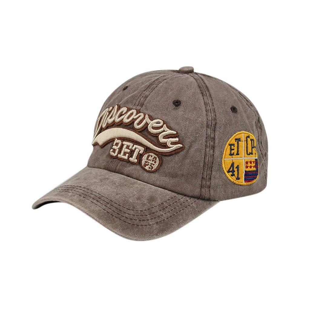 Cotton Unisex Mens Women Baseball Cap Suitable for Outdoor Embroidery Adjustable Hat Hip-Hop Sports Caps XGao Baseball Hats for Women Black Baseball Cap Men Dark Gray
