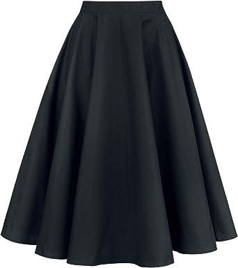 Hell Bunny Paula Falda Medium-Length Falda Negro: Amazon.es: Ropa ...