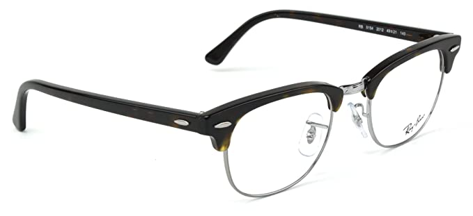 6d4ca2e363 Image Unavailable. Image not available for. Color  Ray-Ban RX5154 Clubmaster  Optics Prescription Glasses ...