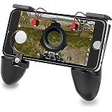 PUBG Mobile 荒野行動 コントローラー Identity V ゲームパッド 吸盤 マイクロスイッチ 交換可能な部品 統合構造 モバイルジョイスティック|押しボタン|グリップ 3 in 1 ゲームコントローラ iPhone/Android各種ゲーム対応可能