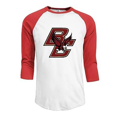 f5520c7d Amazon.com: Boston College Eagles Men 3/4 Sleeve Baseball Jersey T-shirt  Black: Clothing