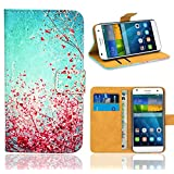 Huawei Ascend G7 Case, FoneExpert® Premium Leather Flip Bag Wallet Case Cover For Huawei Ascend G7 (Pattern 3)
