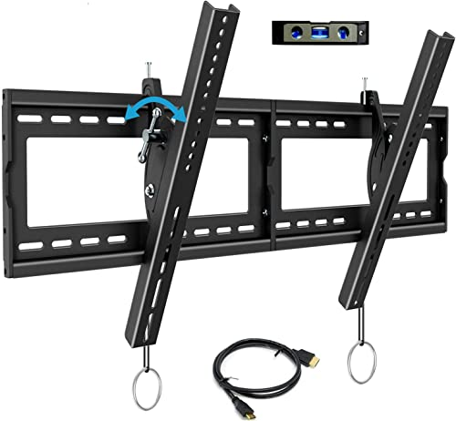 BLUE STONE TV Wall Mount Bracket, Tilt Swivel Mounting, 40-90 Inches with Max VESA 800×400 and 165lbs Loading, Fits 16 , 18 , 24 Studs Flat Screen TVs, Low Profile, HDMI Cable, Bubble Level Included