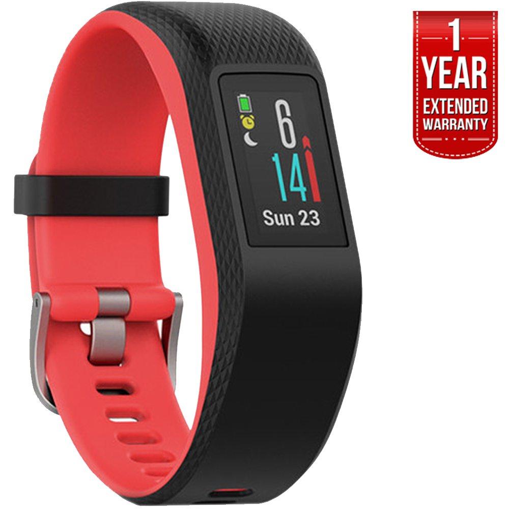 Garmin Vivosport Smart Activity Tracker + Built-in GPS (Fuchsia, S/M) 010-01789-11 + 1 Year Extended Warranty
