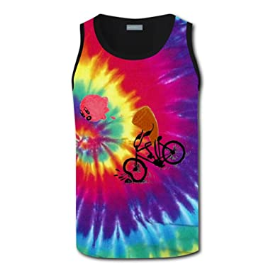 26e391b4bf512b Image Unavailable. Image not available for. Color  YIBDSD Spiral Tie Dye  Ice Cream Racing Racerback Tank Top Tee for Mens