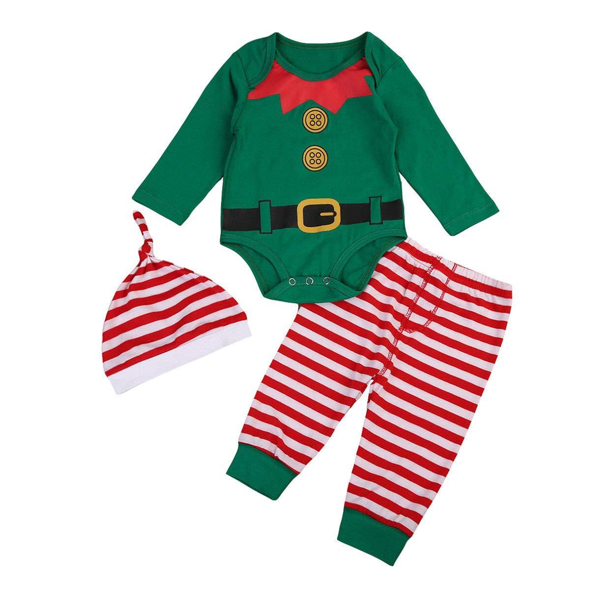 Hut Kleidung Freizeit Set Hose 3tlg Neugeborene Baby Mädchen Jungen T-shirt