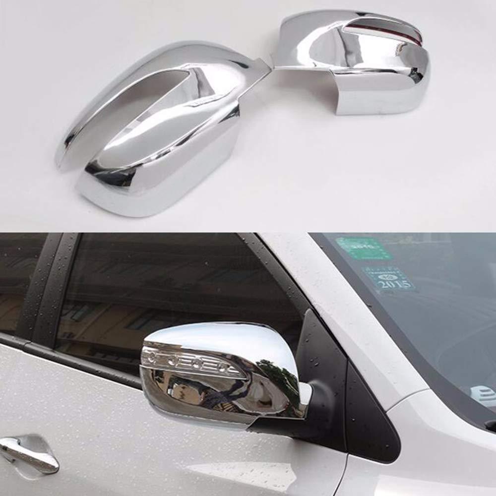 Cubierta de espejo retrovisor lateral para IX35 2010 2011 2012 2013 2014 Abs cromado coche accesorios 2 piezas por juego Maiqiken