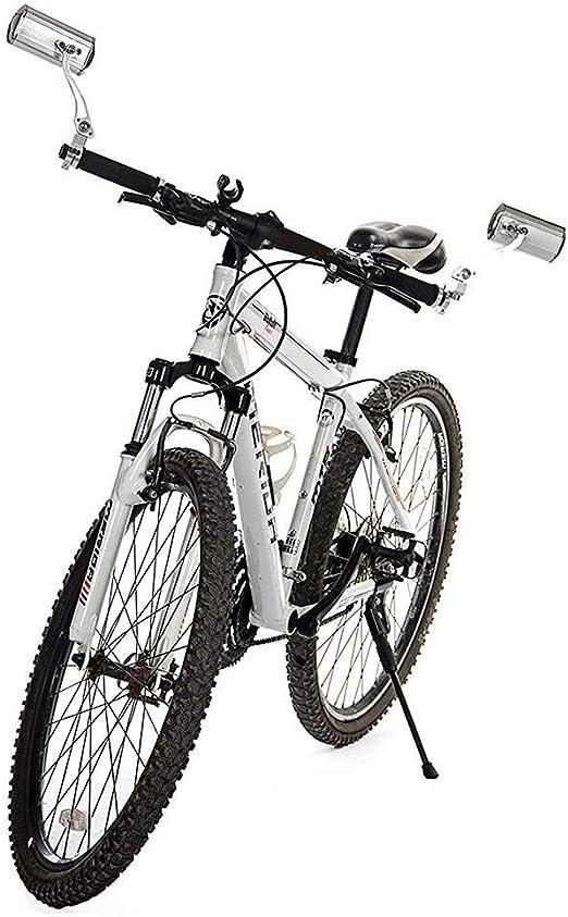 LXDDP 2 Piezas Bicicleta Bicicleta Espejo retrovisor Ciclismo Manillar Seguridad MTB Bicicleta Carretera Reflectante, ángulo Ajustable 360 ° Manillar Seguro Espejo Bicicleta: Amazon.es: Deportes y aire libre
