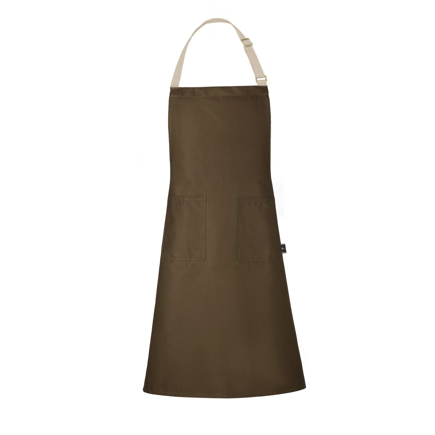BONTHEE Adjustable Chef Bib Apron Kitchen Grilling Apron for Women Men Chef - Coffee Others