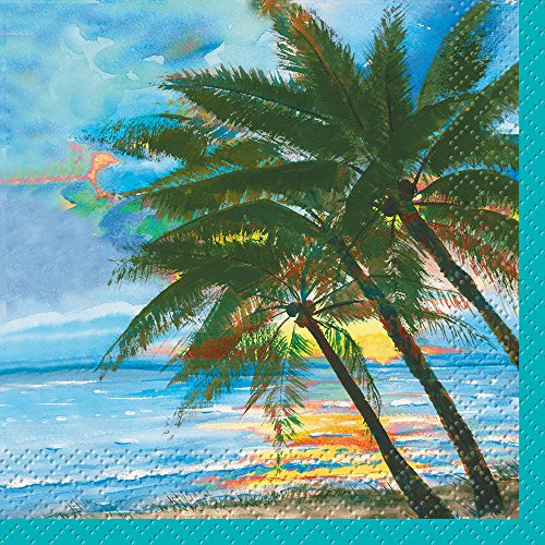 (Palm Tree Summer Cocktail Napkins,)