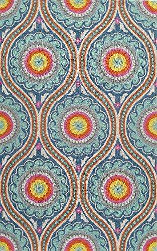 Momeni Rugs SUZHKSZI-5TEL3656 Suzani Hooks Collection, 100% Wool Hand Hooked Traditional Area Rug, 3'6