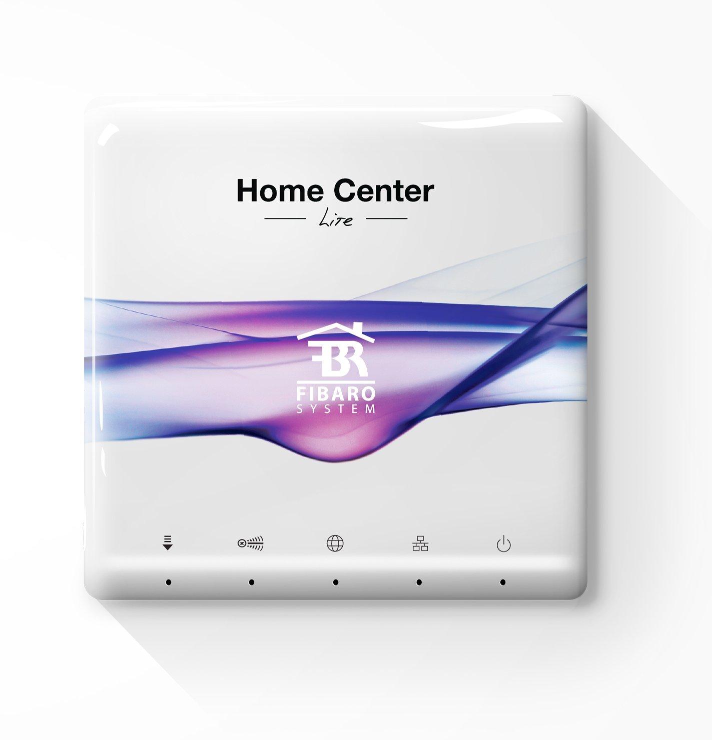 Plateado Fibaro FIB/_FGHCL Sistema de Control del Hogar Home Center Lite