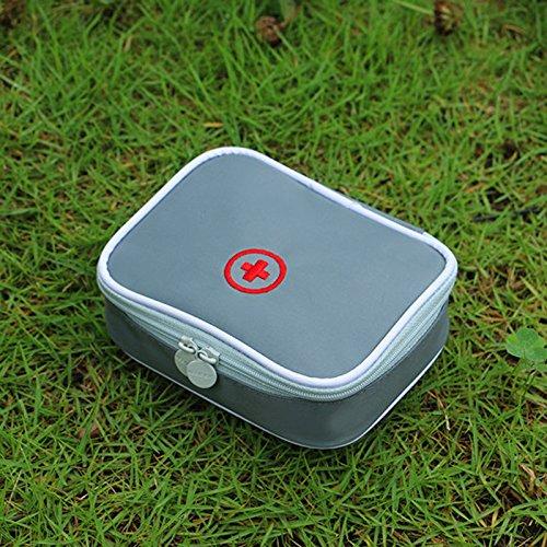 Dewel Camping Reisen tragbare Mini-erste Hilfe Storage Case Tasche Box Beutel Notfallwerkzeug (leer) (Grau)