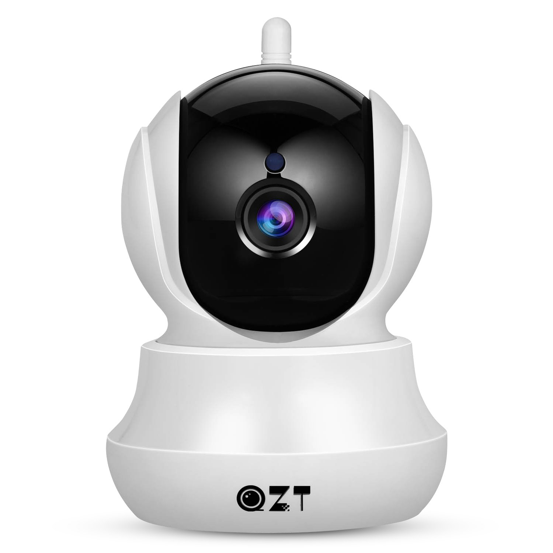 Cámara IP, Cámara de Vigilancia QZT 720P Wifi con Visión Nocturna, Audio Bidireccional,