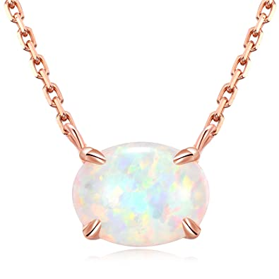 14K Yellow Gold Glowing Genuine Small  Opal Charm Pendant for Necklace NEW