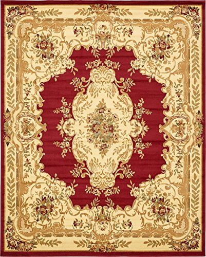 Persian Traditional Design rugs, Red 8' x 10' - Feet Tiba Collection Area rug - Perfect for any Room, Floor Carpet