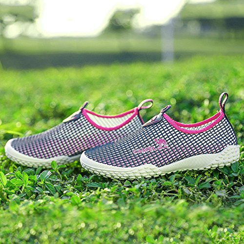 Camel Shoes Mens Slip Walk Sneakers Blue Casual Plum Womens Lightweight Shoes Walking for On Breathable Sneaker Mesh BBCrq