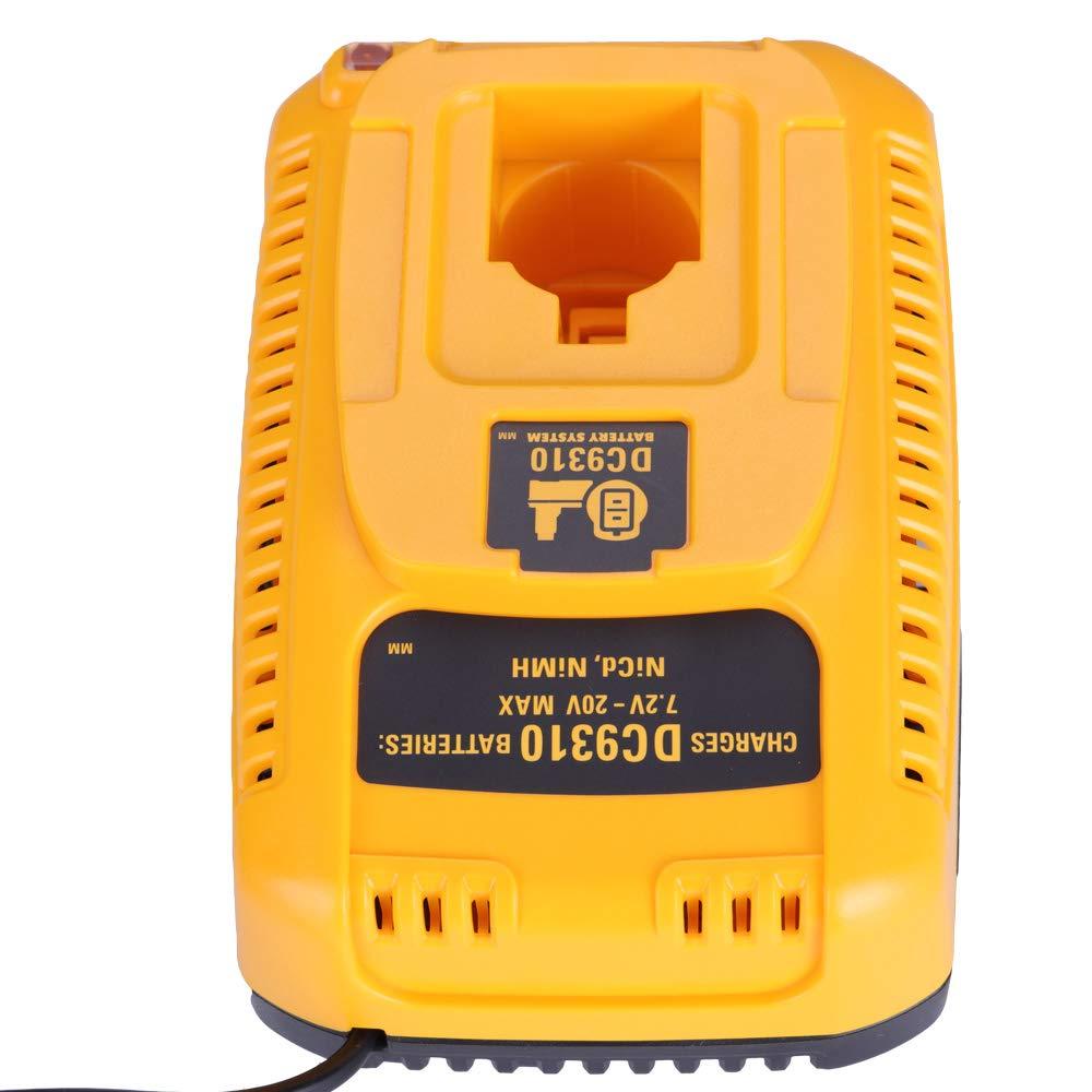 laipuduo DC9310 Battery Charger for Dewalt 7.2V 9.6V 12V 14.4V 18V NiCd NiMh Batteries DW9057 DW9061 DC9071 DC9091 DC9096 Fast Automotive Charge