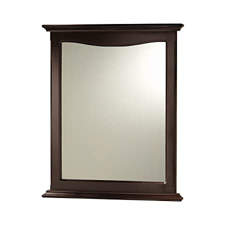 Foremost PAEM2531 Palermo Mirror, 31-1 8 In L X 25-3 8 In W X 1-1 4 In T, Espresso, Brown