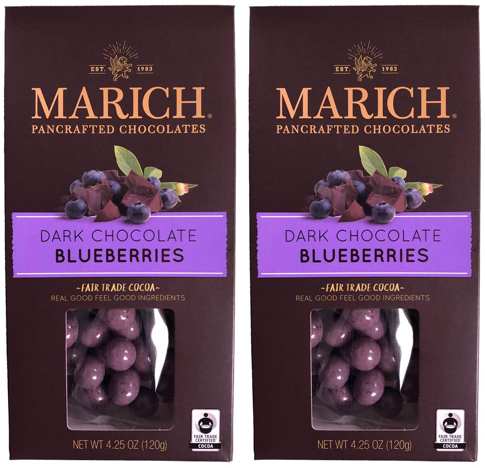 Marich Pancrafted Chocolates: Chocolate Blueberries (2 Pack - 8.5 Oz / 240g)