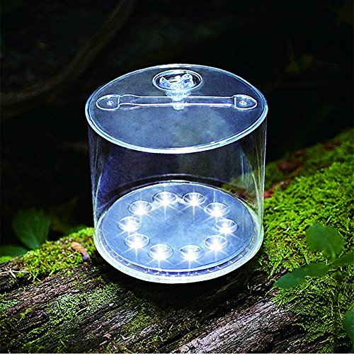 Mokie Inflatable Solar Powered Lantern, Outdoor Camping Lantern with 4 Lighting Models,Survival Emergency Solar Lantern