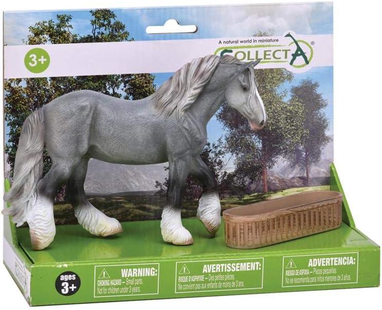 Gris proyecto de caballo y comedero Box Set