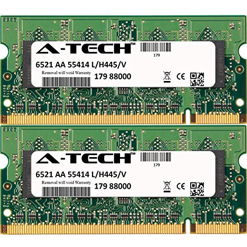 A-Tech 4GB KIT 2X 2GB for Dell Latitude 531 630 830 ATG ATG D620 ATG D630 D520 D530 D531 D620 D630 D630 XFR D630C D631 D820 D830 XFR XFR D630 SO-DIMM DDR2 Non-ECC PC2-5300 667MHz RAM Memory