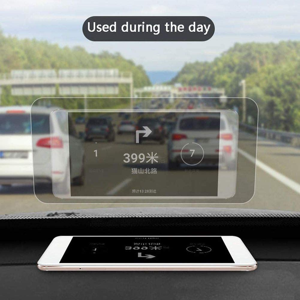 Inicio 1 PCS 5.9 inch Universal Car Head Up Display Reflective Film Transparent HD Polarizing Film for Car Reflective Surface onto The Windshield
