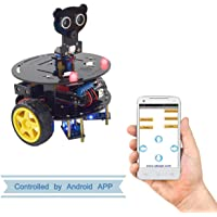 Adeept 3WD Bluetooth Smart Robot Car Kit for Arduino UNO R3, Wireless Remote Control Smart Car, Robot Starter Kit, Arduino Robotics Model, STEM Arduino Starter Learning Kit with PDF Tutorial