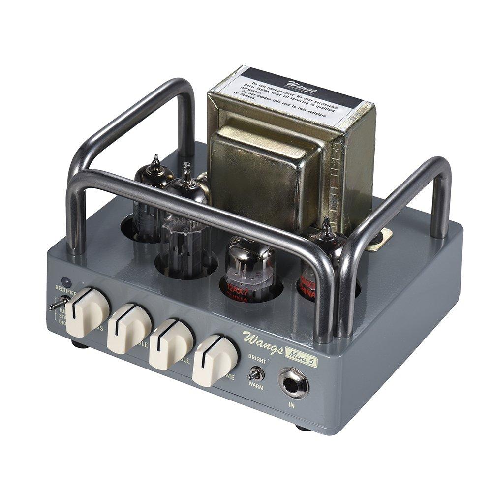 ammoon BIYANG Wangs Guitar Amplifier Mini 5 Powerful 5 Watt All Tube Amp Head with 12AX7 12BH7 6Z4 Tubes