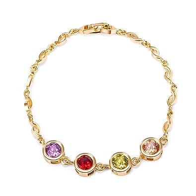Amazon Com 2018 Cool Gold Zircon Hnad Chain Bracelet Jewelry Gift