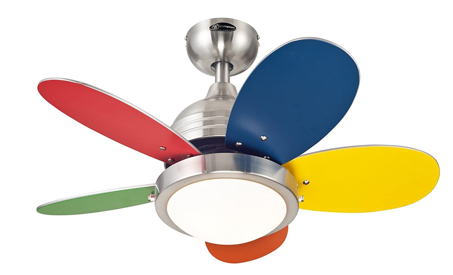 7247500 roundabout 30 inch brushed nickel indoor ceiling fan 7247500 roundabout 30 inch brushed nickel indoor ceiling fan light kit with opal frosted glass kids ceiling fans amazon aloadofball Gallery