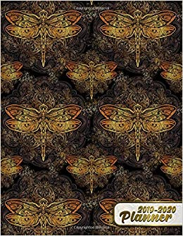 Amazon.com: 2019-2020 Planner: Nifty Gold King Dragonfly ...