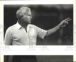 Historic Images 1990 Press Photo Holmes High School Football Coach Gary West on The Sideline 8 x10