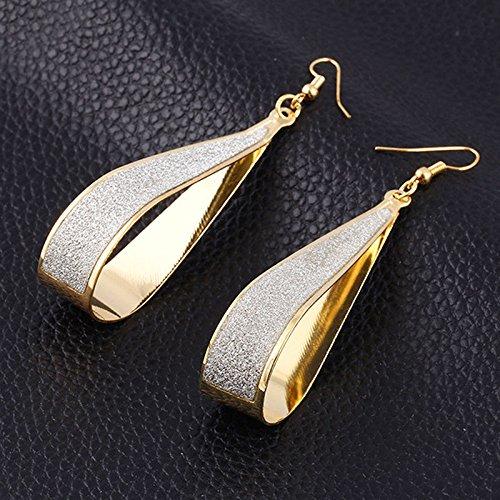 Scrub Water Drop Hook Dangle Earrings Fashion Women Party (gold) ()