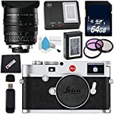 Leica M10 Digital Rangefinder Camera (Silver) + Leica Summilux-M 24mm f/1.4 ASPH. Lens + 72mm 3 Piece Filter Kit + 64GB SDXC Card + Card Reader + MicroFiber Cloth Bundle