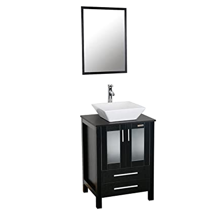 Eclife 24 inch Modern Bathroom Vanity Units Cabinet And Sink Stand on euro vanity and sink, laundry vanity and sink, vanity top and sink, bathroom cabinet and sink, medicine cabinet and sink,
