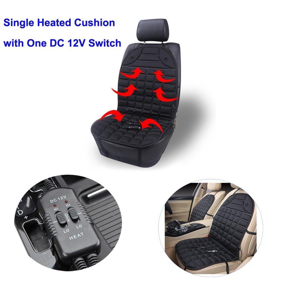 2 Cushion + 1 Switch Car Heated Seat Cushion Universal 12V Heated Car Seat Heater Heated Cushion High//Low//Temp Switch Controll NEW