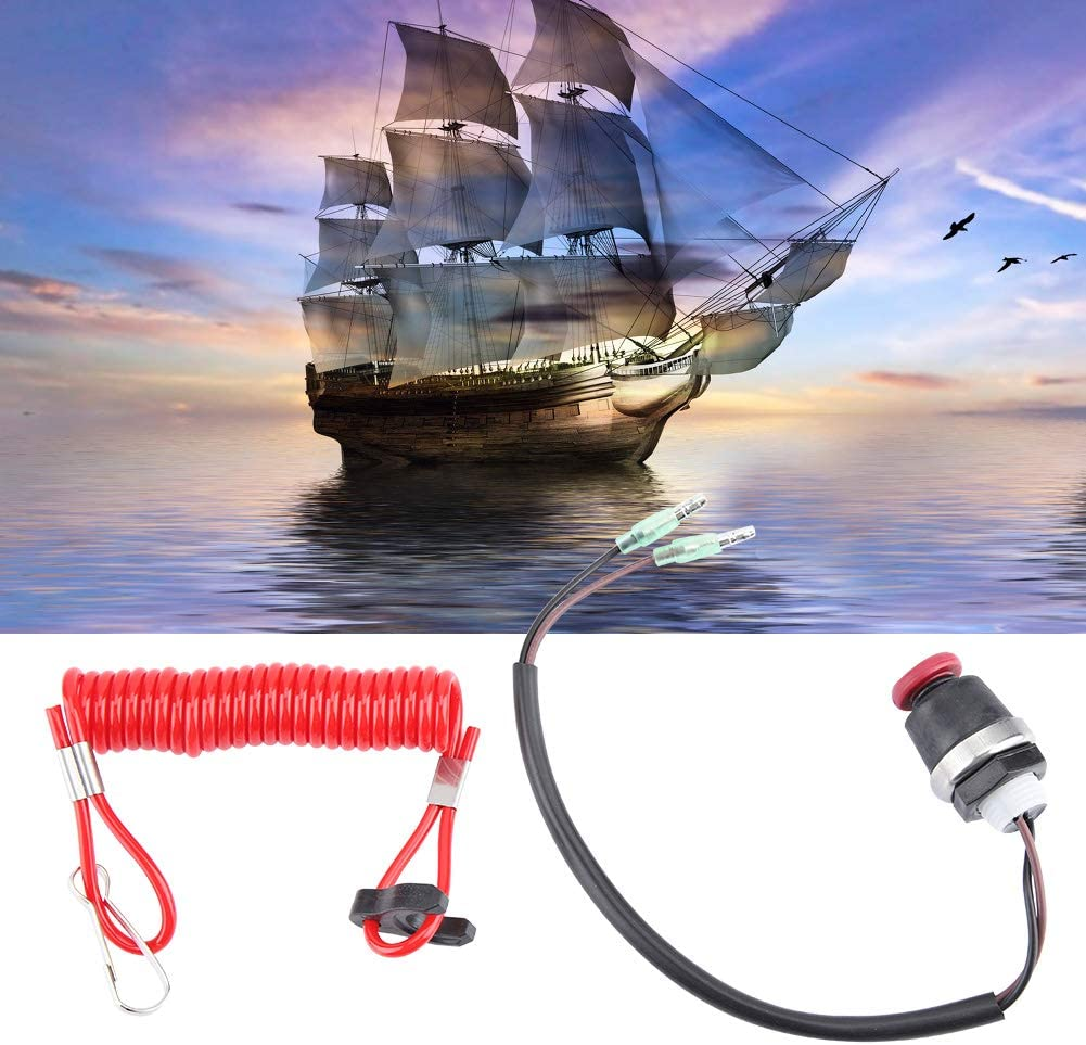 Universalboot Au/ßenbordmotor Motor Lanyard Kill Switch Sicherheits-Kabel f/ür Marine Mercury Tohatsu