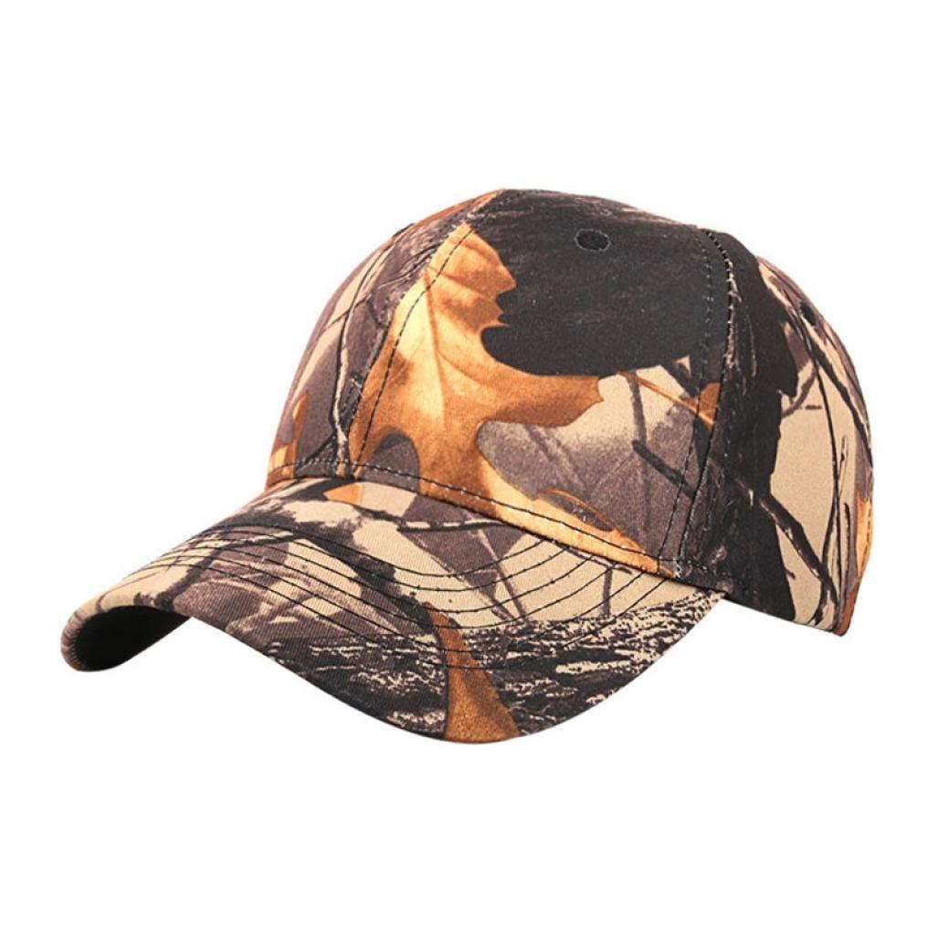 Hemlock Hats Outdoor Running Caps,Hemlock Sports Sun Cap Camouflage Fishing Hat Snapback Baseball Cap Adjustable Beach Hats (Coffee)