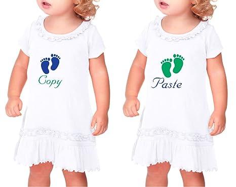 Amazon Com Copy Paste Baby Food Print Sunflower Short Sleeve Dress