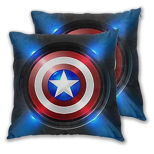 Xzcxyadd Capitán América Ropa de Cama Decorativo Almohada ...